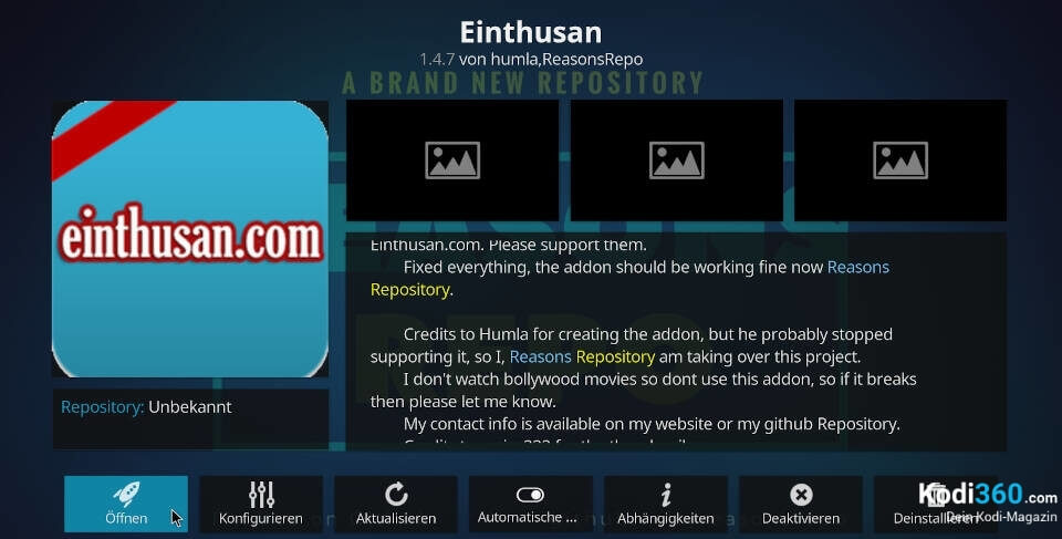 Einthusan Addon installieren 11