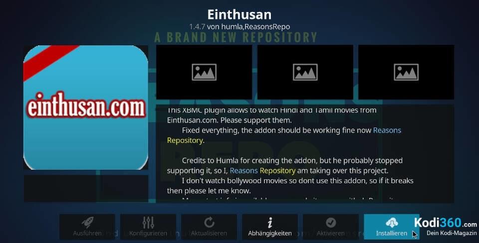 Einthusan Addon installieren 8