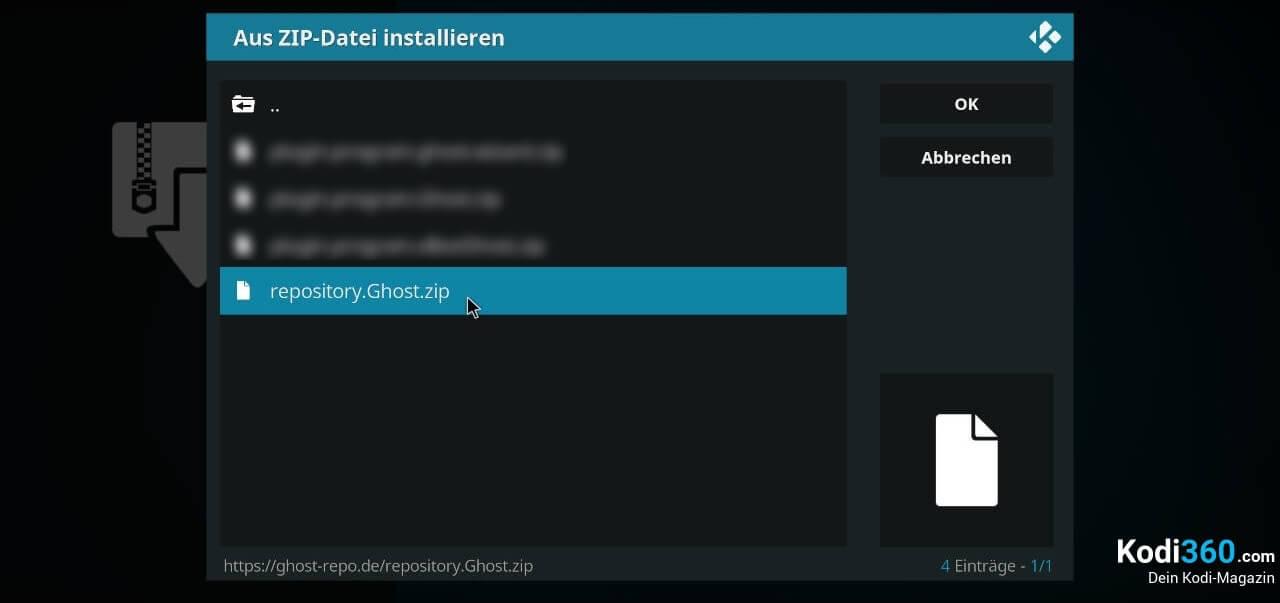 Ghost Repo installieren 2