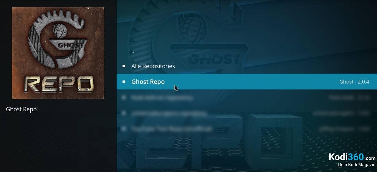 Ghost Repo installieren 5