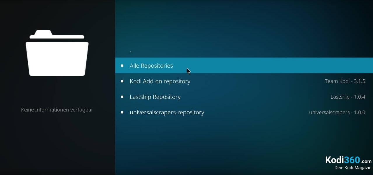 Kodi IPTV einrichten 1
