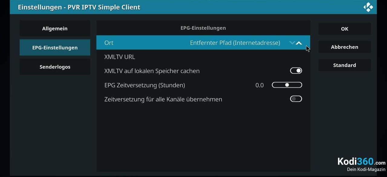 Kodi IPTV einrichten 10