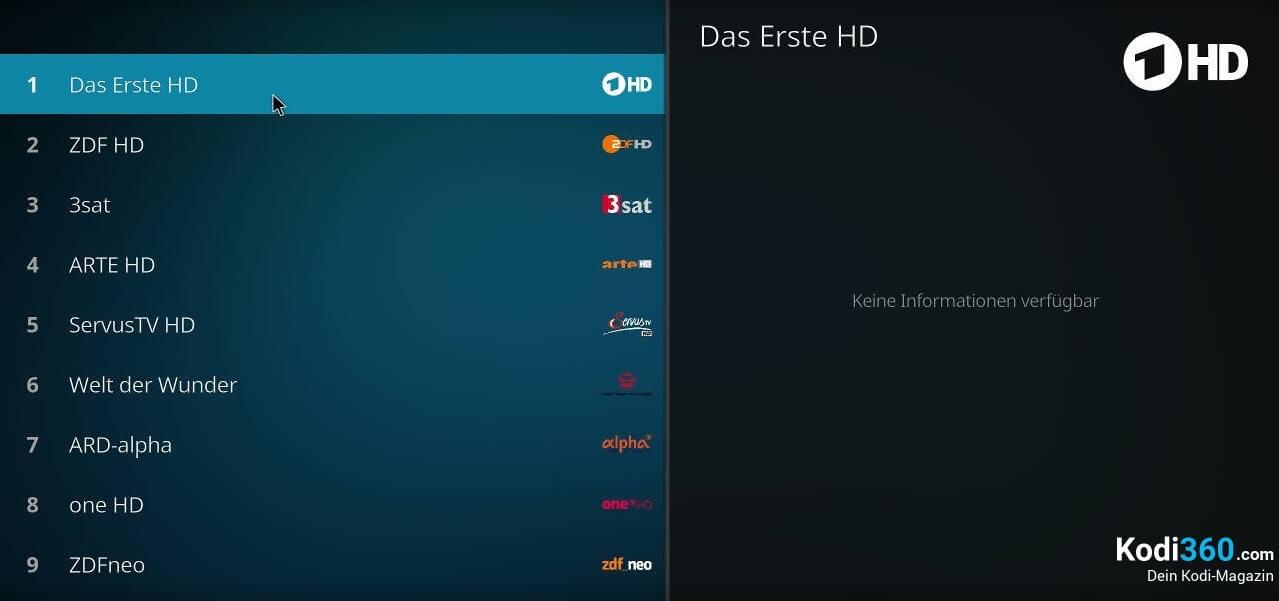 Kodi IPTV einrichten 19