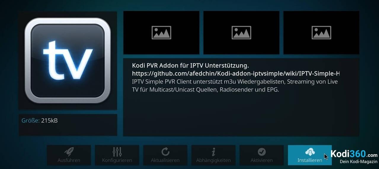 Kodi IPTV einrichten 4