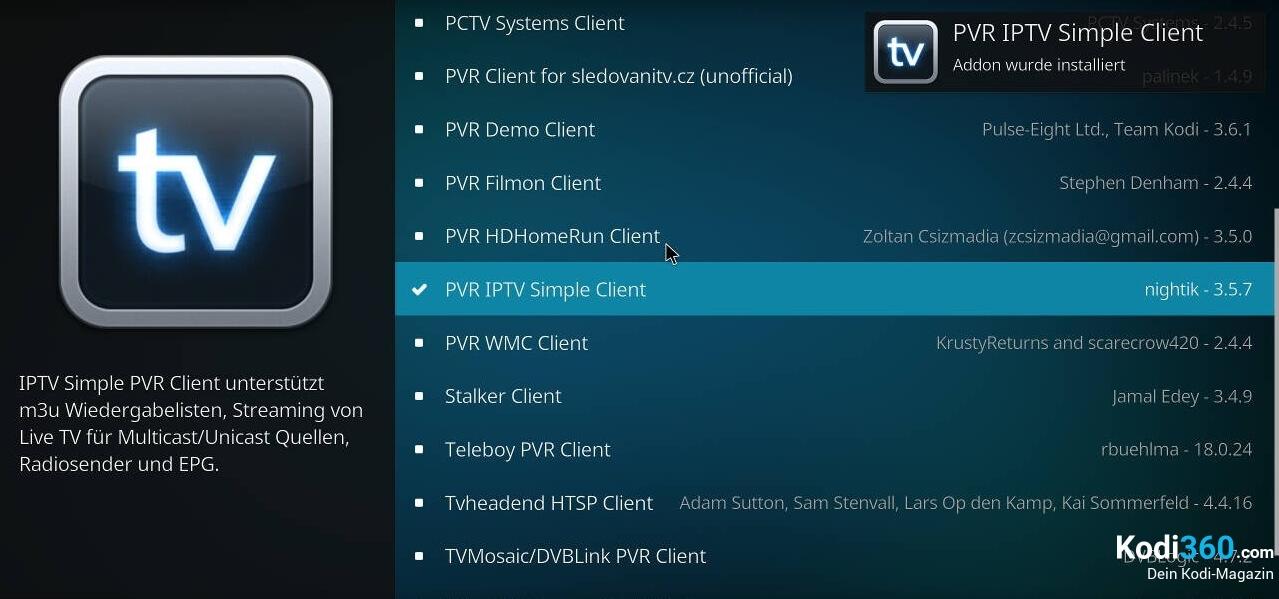 Kodi IPTV einrichten 5