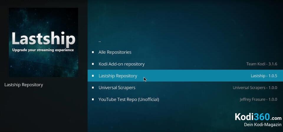 Lastship Kodi Addon installieren 4