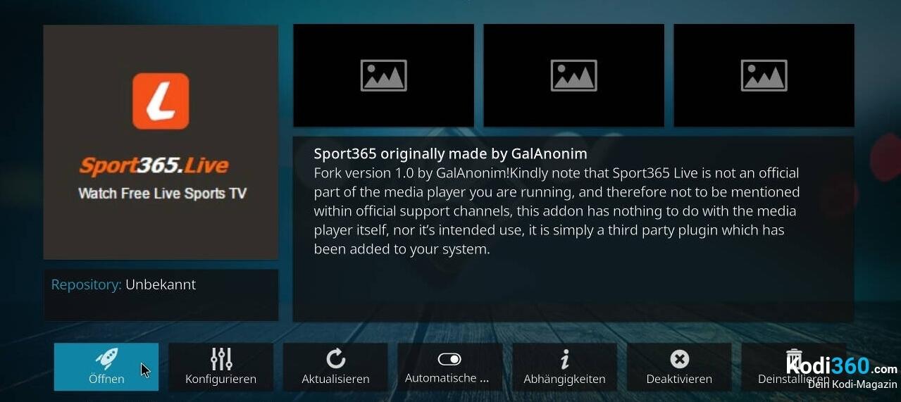 Sport 365 Kodi Addon installieren 11