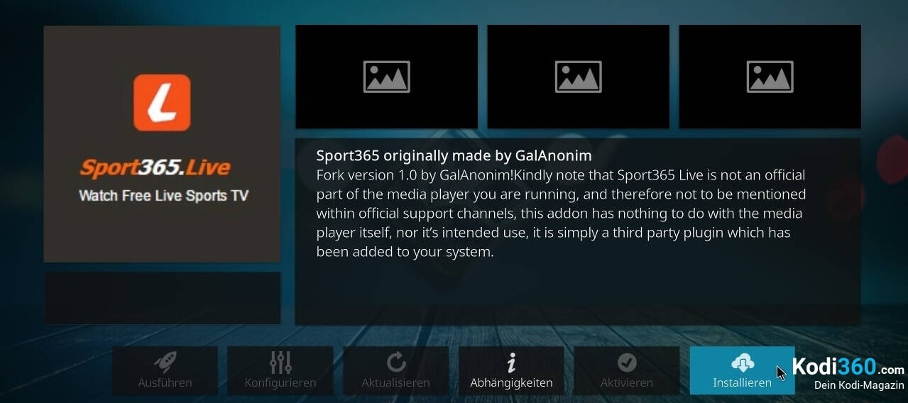 Sport 365 Kodi Addon installieren 8