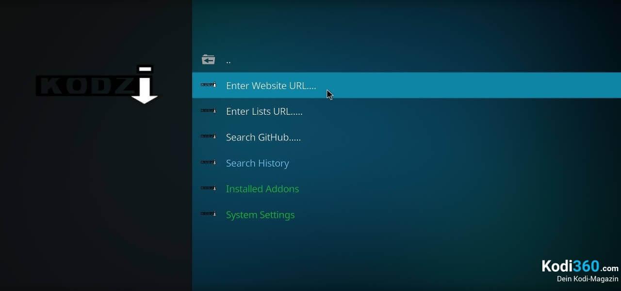 xStream Addon mit Kodzi installieren 2
