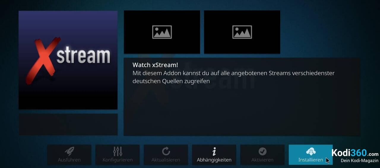xStream Addon mit Kodzi installieren 7