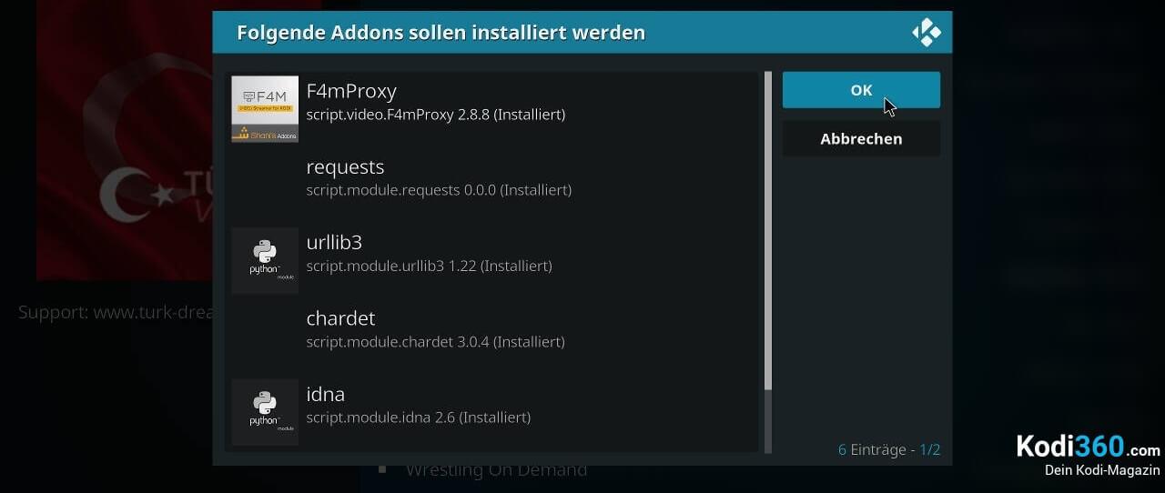 Turkvod Addon installieren 9