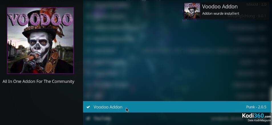 Voodoo Addon installieren 10