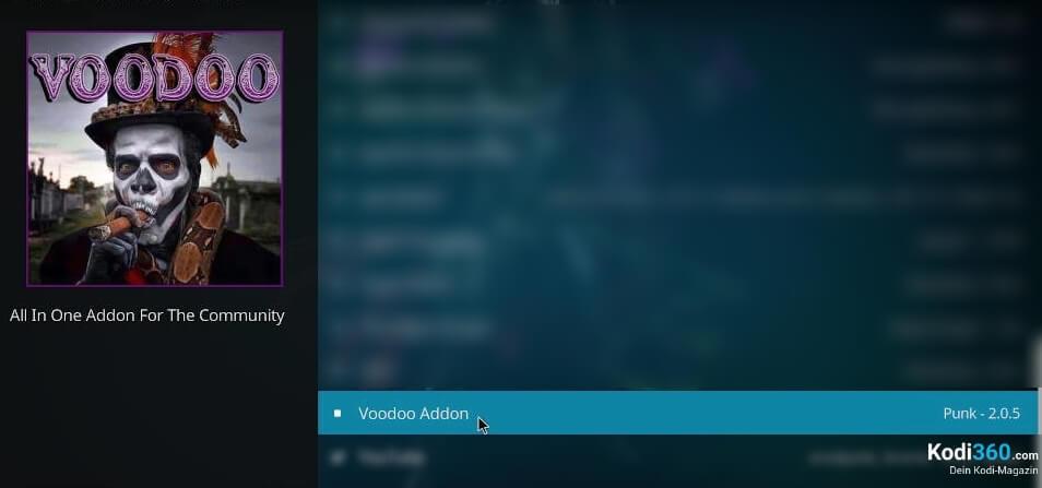 Voodoo Addon installieren 7